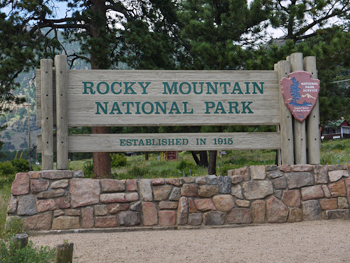 Rocky Mountain National Park entrance