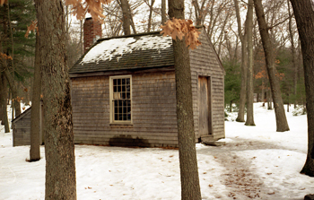 Replica of Henry David Thoreau's cabin at Walden