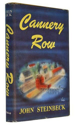 First edition book cover of John Steinbeck's Cannery Row